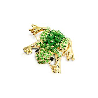 AZ collection ladies ZS0438 gold metal brooch