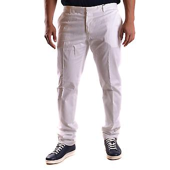 Daniele Alessandrini men's MCBI086360O white cotton pants