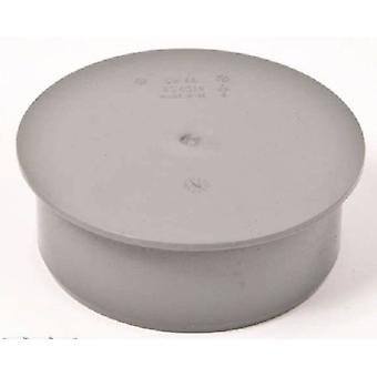 Soil Pipe Cap 110 mm Inlet - Push Fit - Sewerage - Waste - Grey - Stop end