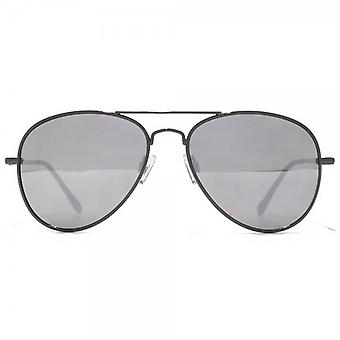 Steelfish Ace Pilot Sunglasses In Silver Mirror