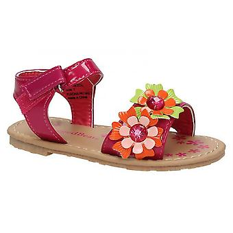 Baby Infant Girls New Ankle Strap Touch Fastening Floral Sandals Shoes