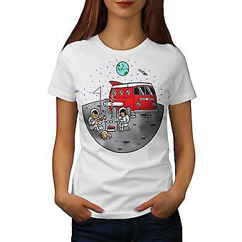 Cosmos Camp Women WhiteT-shirt | Wellcoda