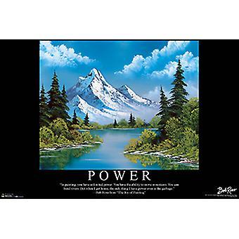 Bob Ross Power Poster Print