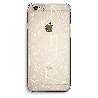 Iphone 6 6s Transparent Case (Soft) - Geometric lines white