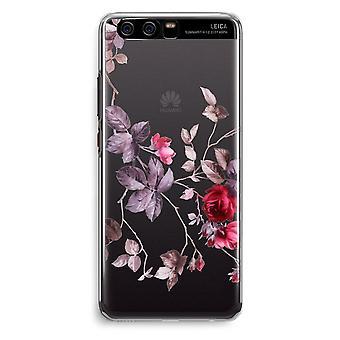 Huawei P10 Transparent Cover (Soft) - Pretty flowers