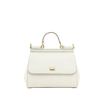 Dolce E Gabbana women's BB6002A100180001 White leather handbags