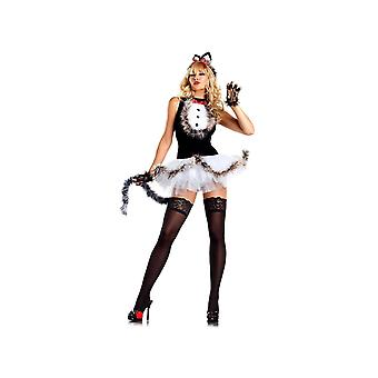 Be Wicked BW1279 4 Piece set Kissable Kitty Kat Costume