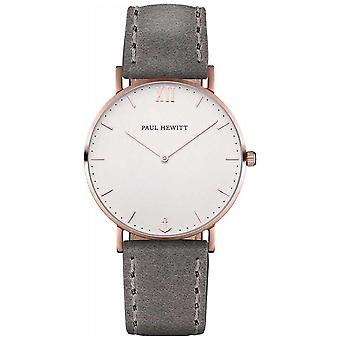 Paul Hewitt Unisex Sailor Grey Leather Strap PH-SA-R-ST-W-13M Watch