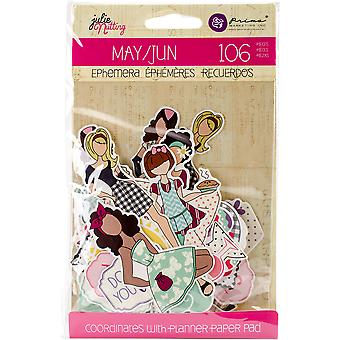 Julie Nutting Ephemera Cardstock Die-Cuts-May & June