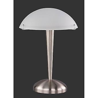 Trio Lighting Pilz Modern Nickel Matt Metal Table Lamp