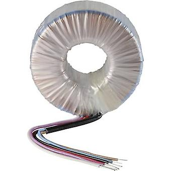 Toroidal core transformer 1 x 230 V 2 x 45 V AC 400 VA 4.44 A 859779 Sedlbauer