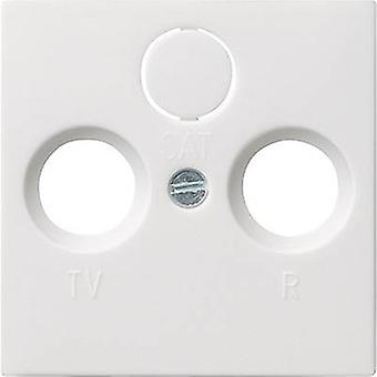 GIRA Cover TV, Radio socket System 55, Standard 55, E2, Event, Event Tranparent, Event Opaque, Esprit, ClassiX Pure white, Matt 086927