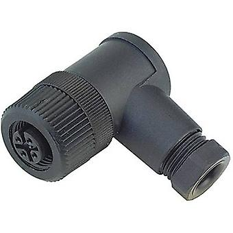Binder 99-0430-00-04 Series 713, M12 Sensor / Actuator Connector, Screw Cap, Angled
