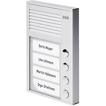 Auerswald 90637 Door intercom Corded Complete kit 4 flat building Silver