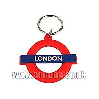 London (London Underground) Flexible Keyring