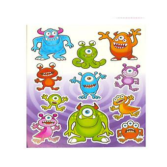 12 Monster Sticker Sheets for Kids Party Bags | Kids Monster Crafts