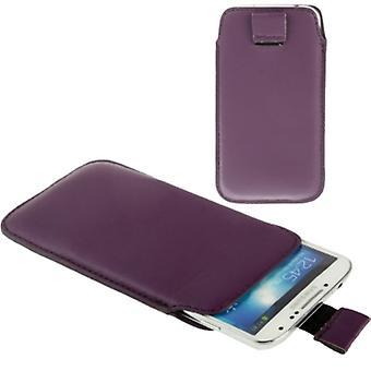 Handyhülle Tasche Slide für Handy Samsung Galaxy S5 / S5 Neo Lila / Violett