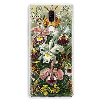 Nokia 7 Plus Transparent Case (Soft) - Haeckel Orchidae