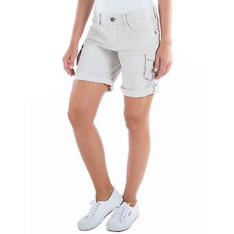 Time zone ladies cargo shorts loose Lara gray