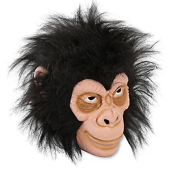 Affen-Maske Schimpanse Dreiviertelmaske Tierkostüm