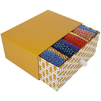 Bright odd-socks Gift Box   4 pairs of recycled cotton socks by Solmate