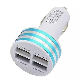 Zeug zertifiziert® High Speed Quad Port 4 USB Ladegerät / Blue 5V - 4.1A Ladeadapter