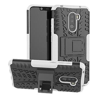 Per Xiaomi POCO Pocofone F1 ibrido cassa 2 pezzo SWL all'aperto bianco borsa custodia cover protezione