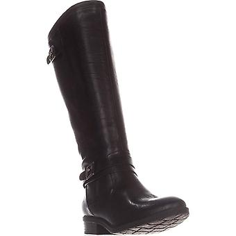 BareTraps Womens Yalina Faux Leather Buckle Riding Boots