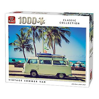 King Vintage Summer Van Jigsaw Puzzle (1000 Pieces)
