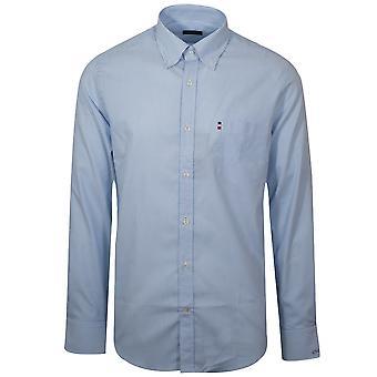 Paul & Shark Paul & Shark Shark Fit Blue & White Long Sleeve Shirt
