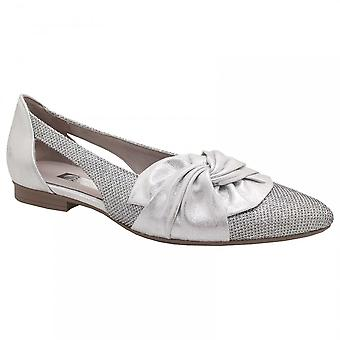 Gabor Steamer Twist Detail Toe Ballet Pump
