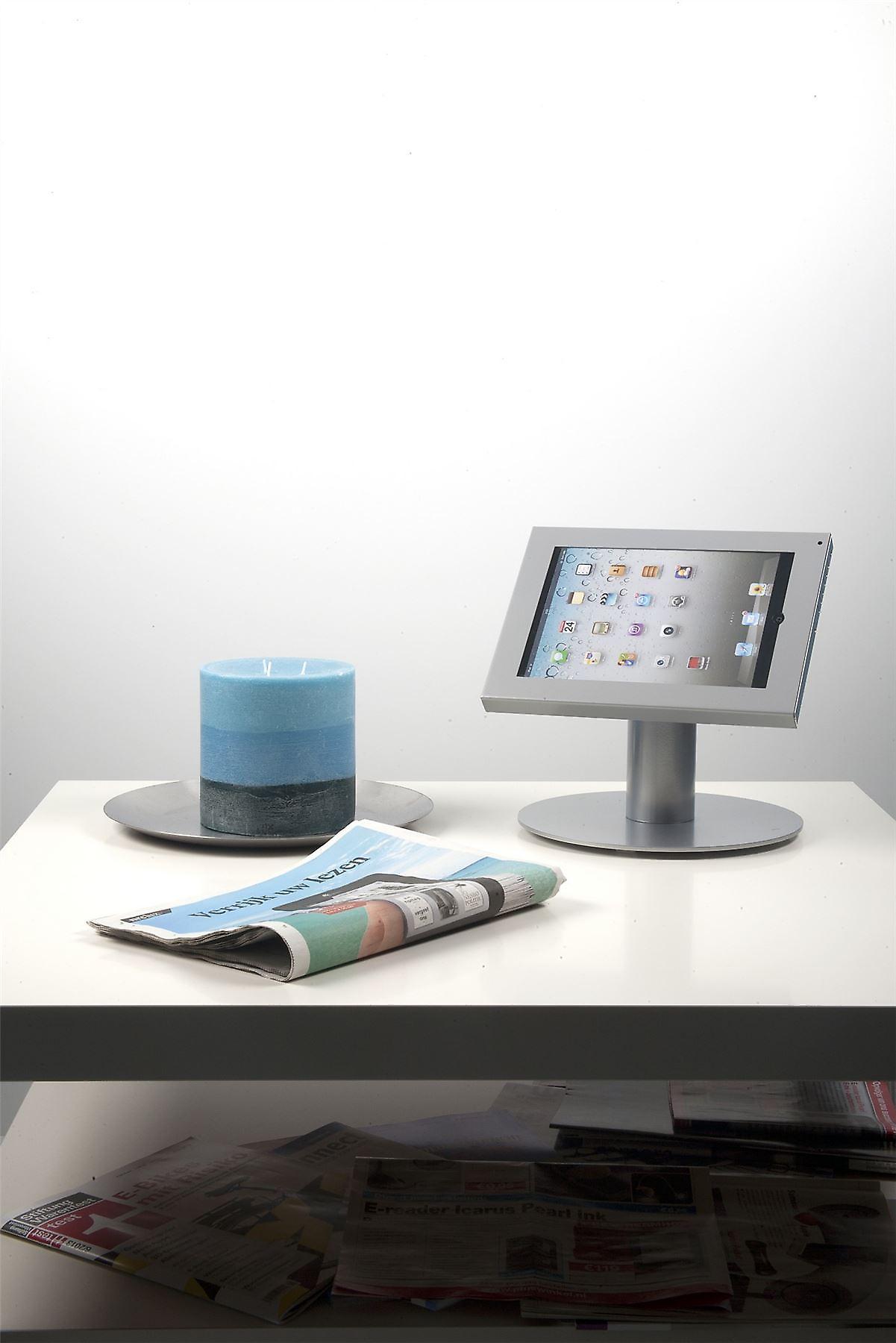 Odyssey acier inoxydable iPad BROSSE - modèle de table - Convient pour iPad AIR, 2-4 iPad et de nombreux comprimés 9.7