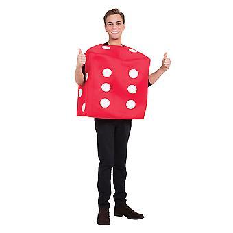 Poker Dice kostym röd