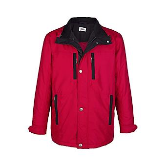 ROGER KENT athletic men's long jacket with zipper Red