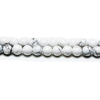 Packet 8 x White/Grey Howlite 8mm Plain Round Beads VP2990