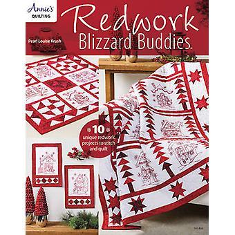 Redwork Blizzard Buddies - 10 Unique Redwork Projects to Stitch and Qu
