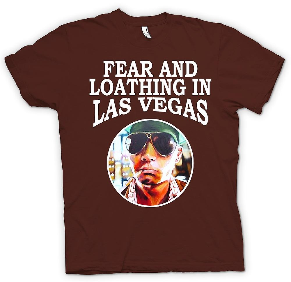 Mens T-shirt-Angst vor Abscheu - Hunter S Thompson Funny - Film