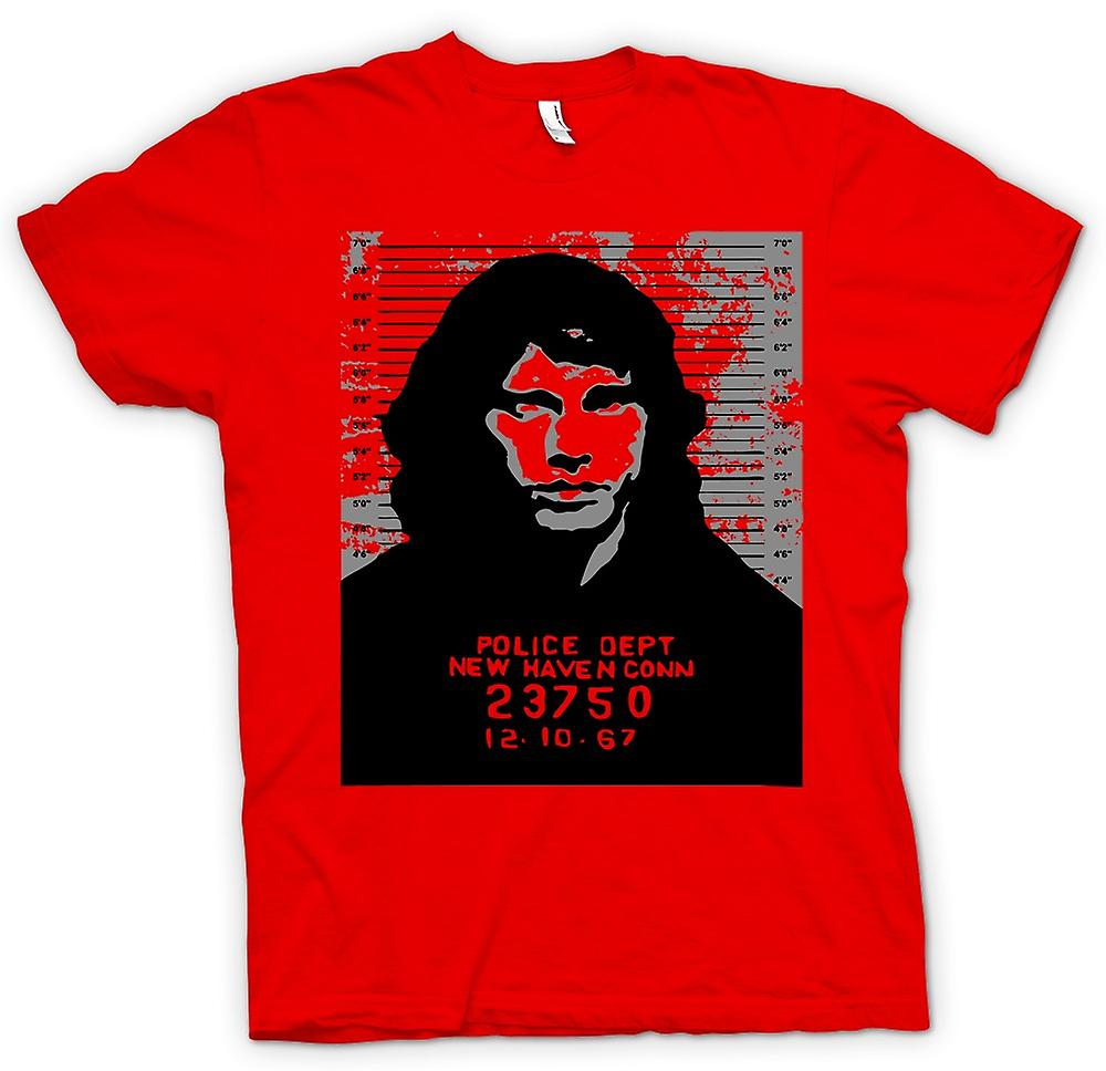 Mens T-shirt -  Jim Morrison - Doors - Mug Shot - Rock