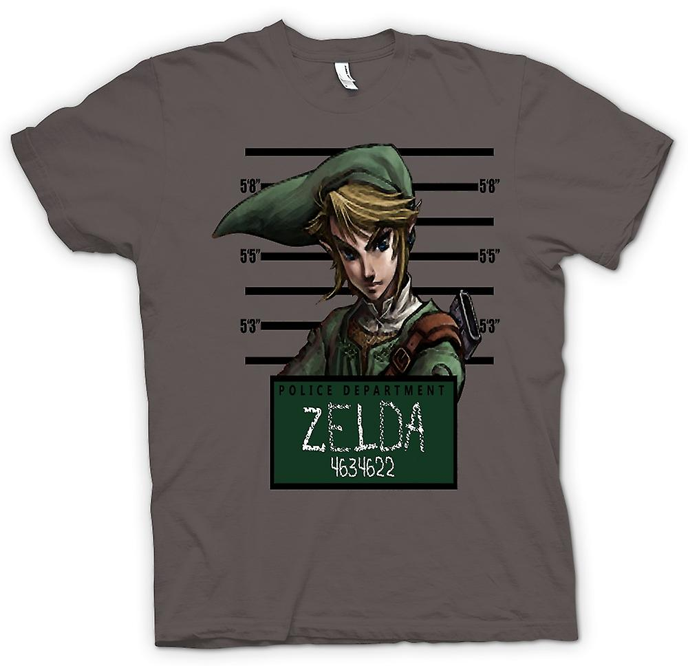 Womens T-shirt-Zelda - Mug Shot - Funny