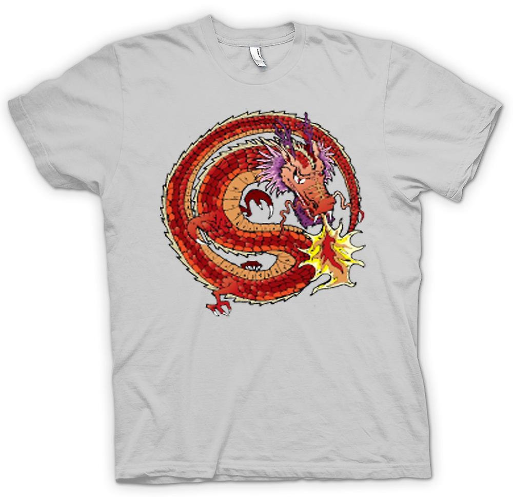 Mens T-shirt-Chinesischer Drache traditionelles Design