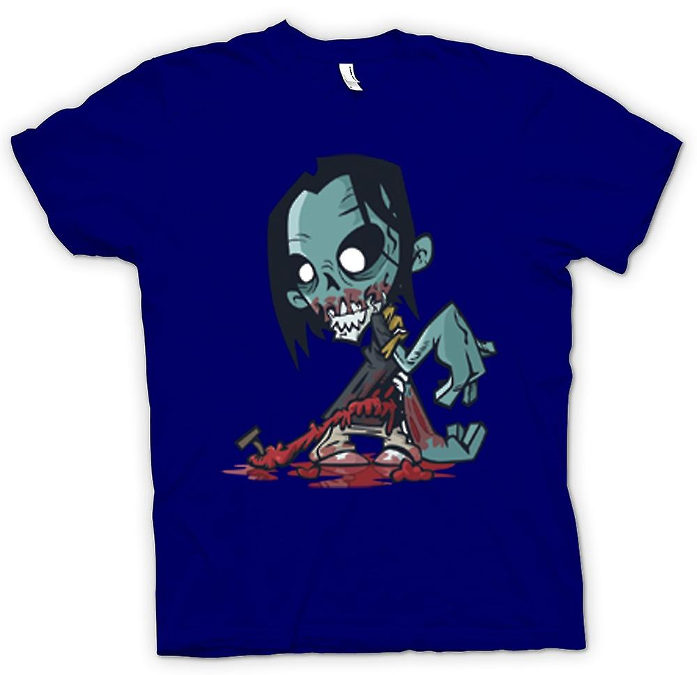 Heren T-shirt-Cartoon Zombie Undead Design