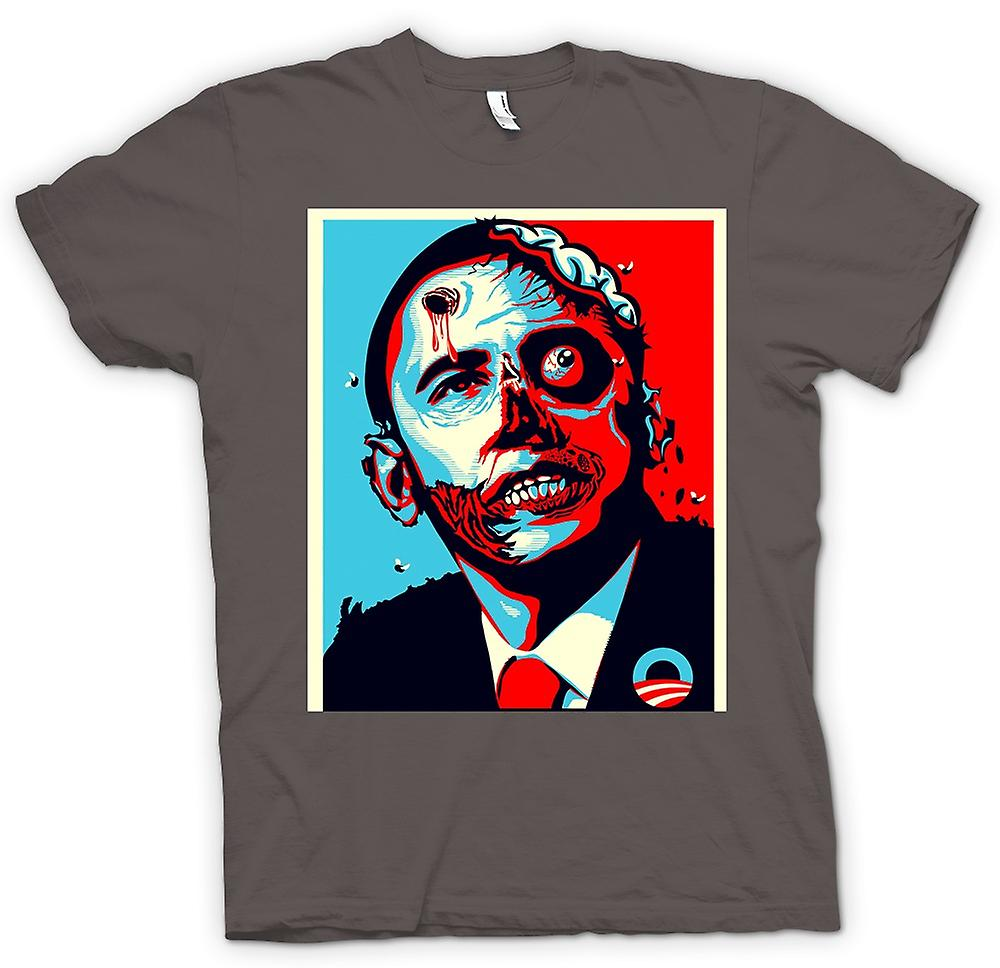 Womens T-shirt - Obama Zombie President - Funny