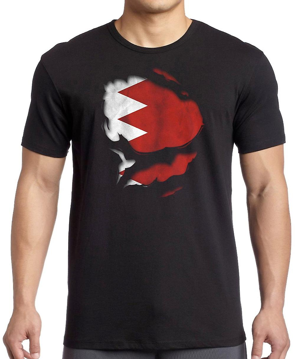 Bahrain Bahranian Ripped Effect Under Shirt T Shirt