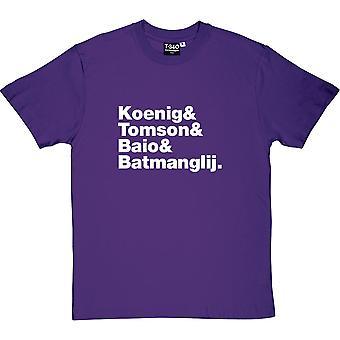 Vampire Weekend Line-Up mäns T-Shirt