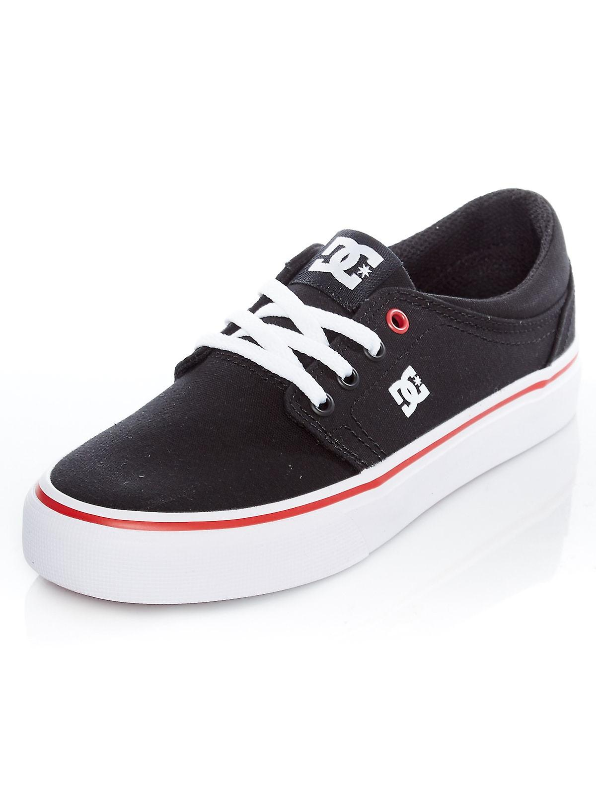 DC Black-White-Red Trase TX Womens Low Top Shoe