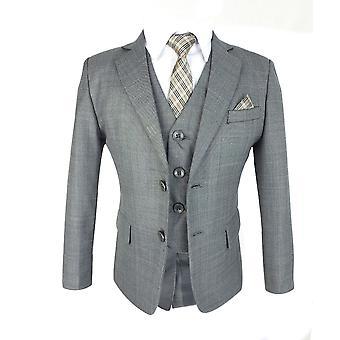 Ragazzi tutti in uno formale Grey Suit