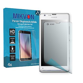Sony Xperia SP Screen Protector - Mikvon Armor Screen Protector (Retail Package with accessories)
