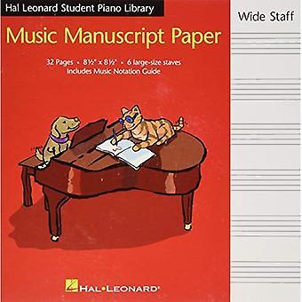Hal Leonard Student Piano Library Music Manuscript Paper - Wide Staff: Wide Staff