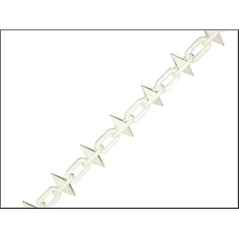 PLASTIC CHAIN 6MM 12.5M WHITE SPIKED