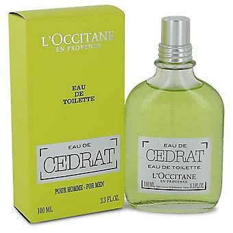 L'occitane Eau De Cedrat by L'occitane Eau De Toilette Spray 3.3 oz / 100 ml (Men)